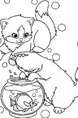Coloriage petits chats en Ligne Gratuit à imprimer