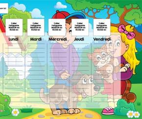 Planning enfant: la promenade