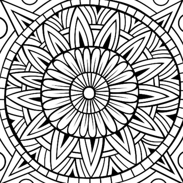 Coloriage rosace mandala en ligne gratuit imprimer - Coloriage mandala en ligne ...