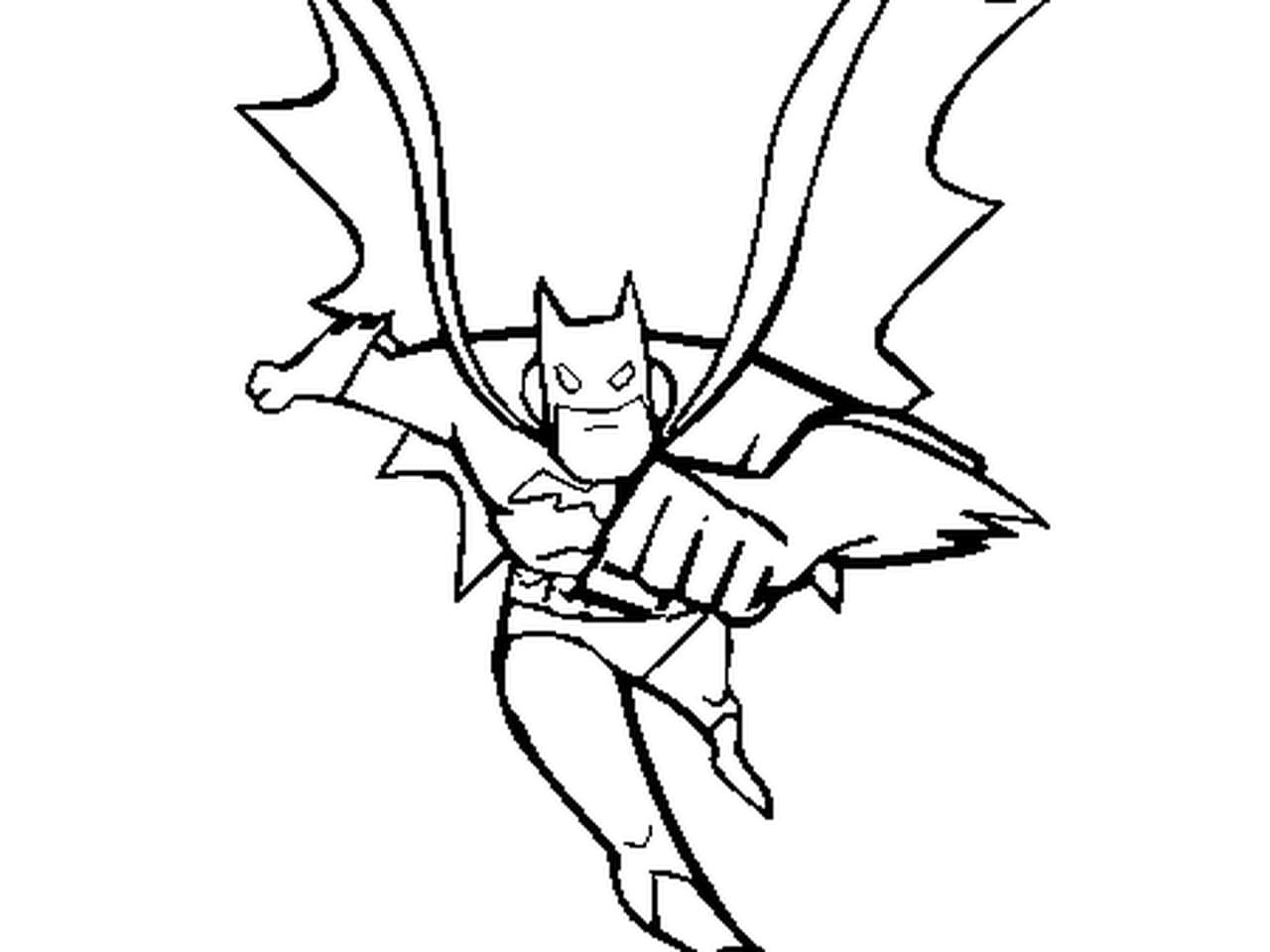 Coloriage Batman Et Sa Batmobile