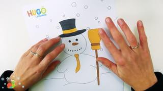 Bonhomme de neige à habiller - Étape 3
