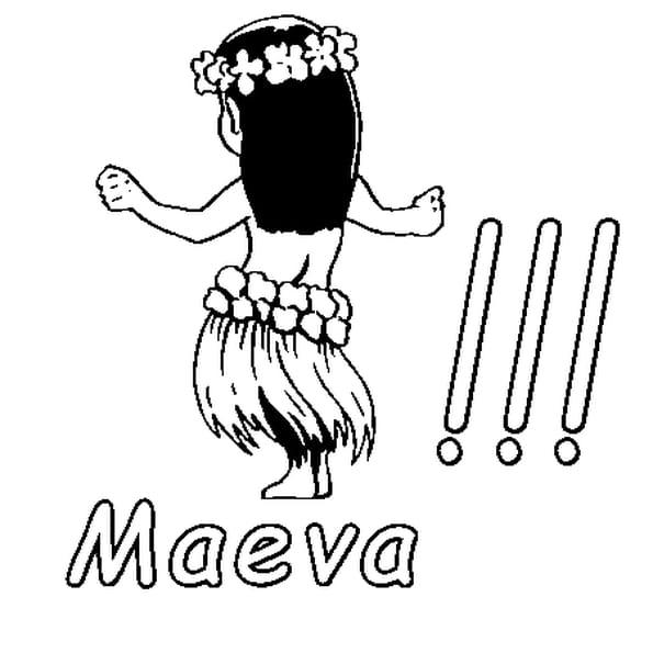 Dessin Maeva a colorier
