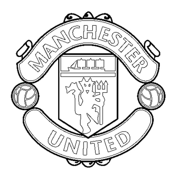 Dessin Manchester United a colorier