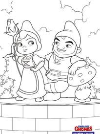 Juliette et Gnoméo, les 2nains de jardin