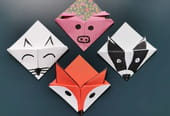 Marque-page origami en forme d'animaux