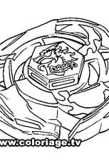 Coloriage Beyblade El Drago