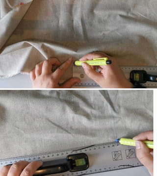 Étape 1: marquage du tissu