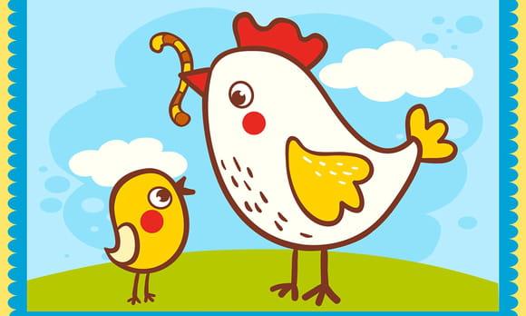 Coloriage animaux de la ferme sur - Pliage serviette animaux ferme ...