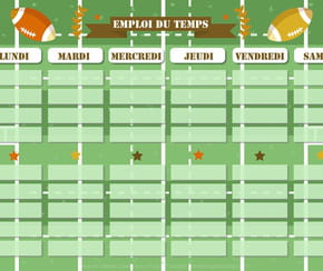 Emploi du temps rugby