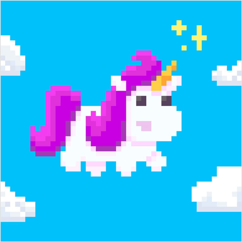 Licorne Kawaii En Pixel Art