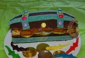 Gâteau d'anniversaire Coffre aux trésors