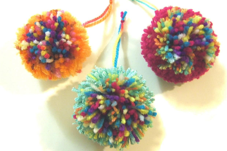 Deco Pompons En Laine boules de laine de noël
