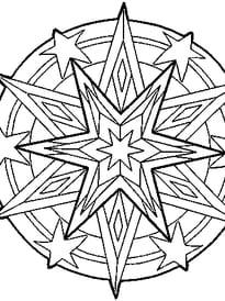Mandala étoile