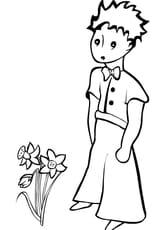 Coloriage petit prince en Ligne Gratuit à imprimer