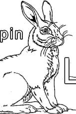 Coloriage L comme Lapin en Ligne Gratuit à imprimer