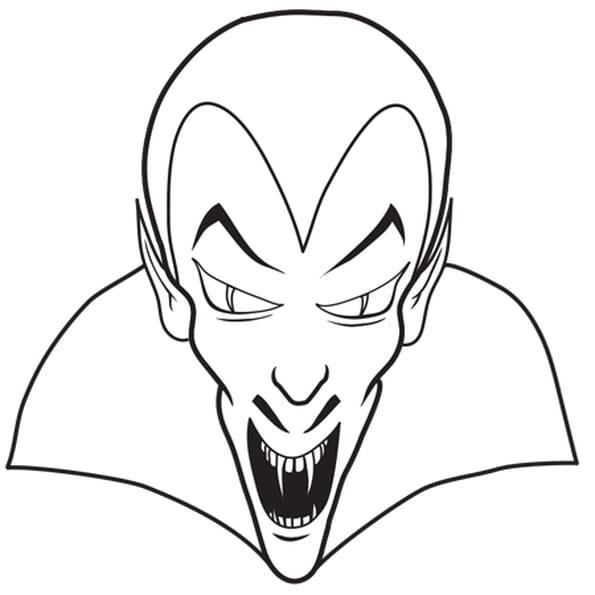 Coloriage Tête de Vampire en Ligne Gratuit à imprimer