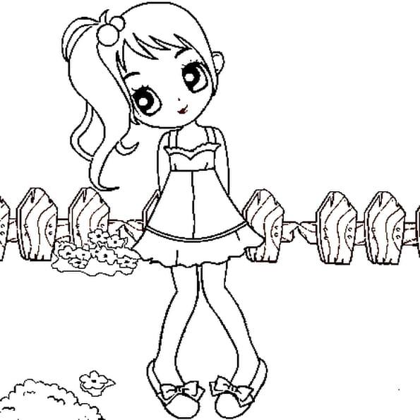 petite fille coloriage