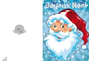 Carte visage Père Noël