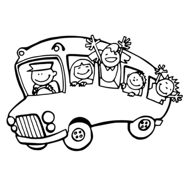 Coloriage conducteur de bus en ligne gratuit imprimer - Autocar dessin ...