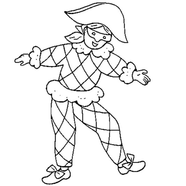 Coloriage Masque Darlequin.Coloriage Arlequin Maternelle En Ligne Gratuit A Imprimer