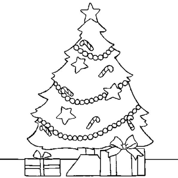 Coloriage Arbre Noël en Ligne Gratuit à imprimer