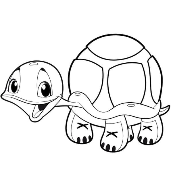 Dessin Bébé tortue a colorier