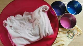 Matériel nécessaire pour un tee-shirt tie & dye