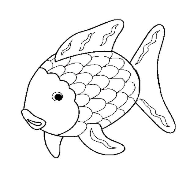 Coloriage poisson rigolo en ligne gratuit imprimer - Dessin de poisson facile ...