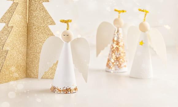 Activités décoration anges de Noël