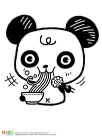 Panda et bol de ramen kawaii