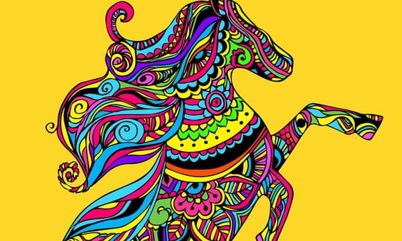 Coloriage mandala cheval sur - Hugo l escargot mandalas ...