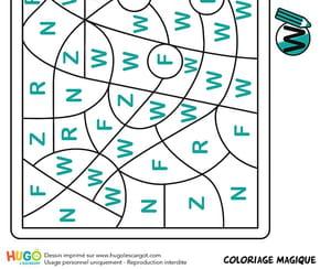 Coloriage magique CP, un arrosoir