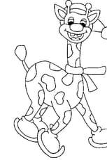 Coloriage Girafe Rigolote
