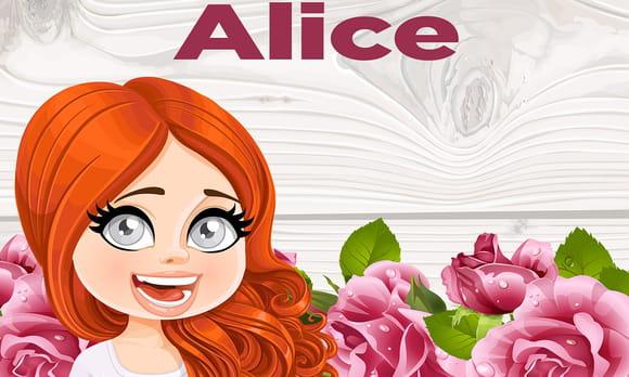 Alice : prénom de fille lettre A