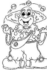 Coloriage Clown Jongleur