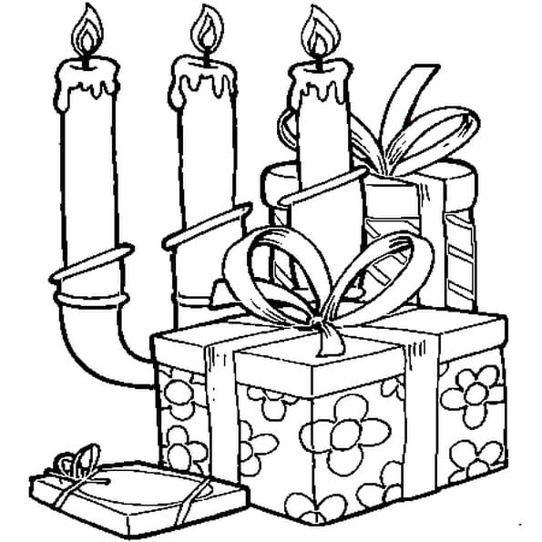 Coloriage bougies de no l en ligne gratuit imprimer - Dessin de bougies ...