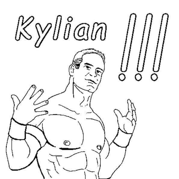 Dessin Kylian a colorier