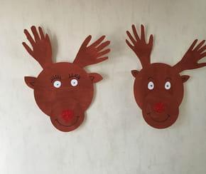 Décoration rennes de Noël avec des assiettes en carton [VIDEO]
