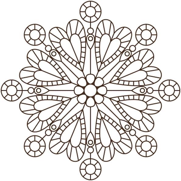 Coloriage mandala de coeur en ligne gratuit imprimer - Coloriage mandala en ligne ...