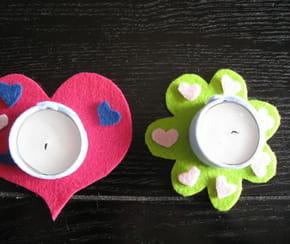 Photophore cœur et fleur