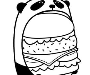 Le burger du panda en mode kawaii