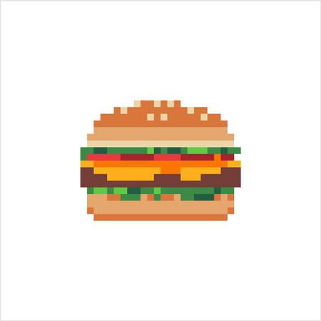 Burger En Pixel Art