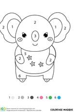 Coloriage magique CP: un koala