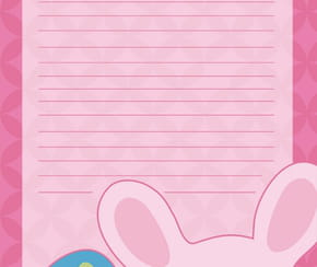 Carte petit lapin de Pâques