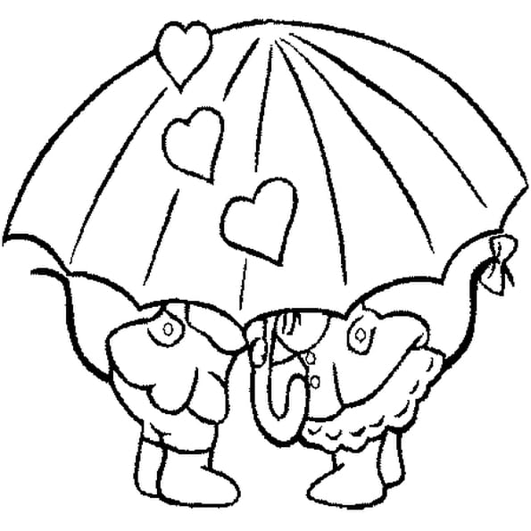 Dessin coin de parapluie a colorier