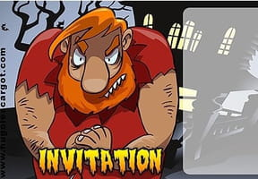 Carte invitation Halloween ogre
