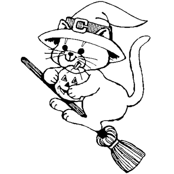 Coloriage chat halloween en ligne gratuit imprimer - Coloriage en ligne chat ...
