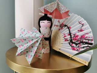Votre ombrelle en origami est terminée!