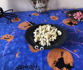 Assiette-araignée pour le goûter d'Halloween