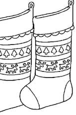Coloriage Chaussette de Noël en Ligne Gratuit à imprimer